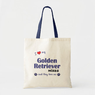 I Love My Golden Retriever Mixes (Multiple Dogs) Budget Tote Bag