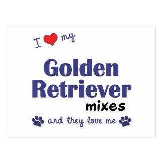 I Love My Golden Retriever Mixes (Multiple Dogs) Postcard