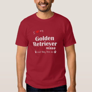 I Love My Golden Retriever Mixes (Multiple Dogs) Tshirts