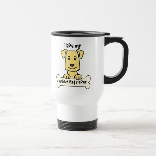 I Love My Golden Retriever Mug