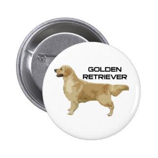 I Love My Golden Retriever Products & Designs! 6 Cm Round Badge