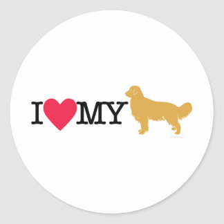 I Love My Golden Retriever ! Stickers
