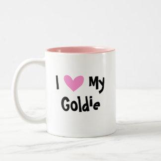 I Love My Golden Retriever Two-Tone Coffee Mug