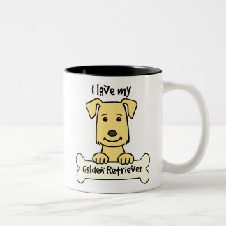 I Love My Golden Retriever Two-Tone Coffee Mug