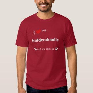 I Love My Goldendoodle (Female Dog) Tees