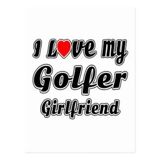 I Love My Golfer Girlfriend Postcards