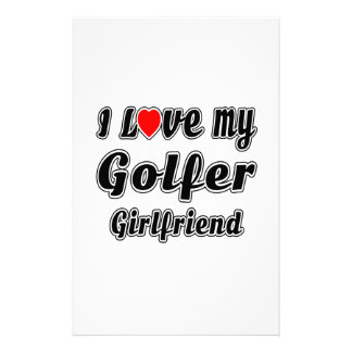 I Love My Golfer Girlfriend Personalised Stationery