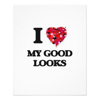 I Love My Good Looks 11.5 Cm X 14 Cm Flyer
