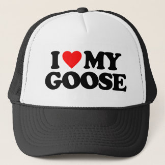 I LOVE MY GOOSE TRUCKER HAT