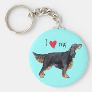 I Love my Gordon Setter Key Ring
