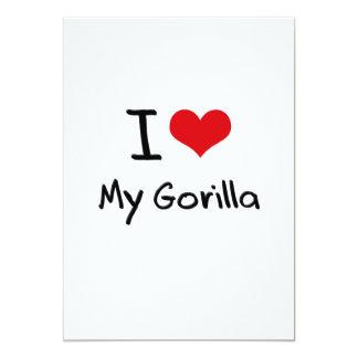 I Love My Gorilla 13 Cm X 18 Cm Invitation Card