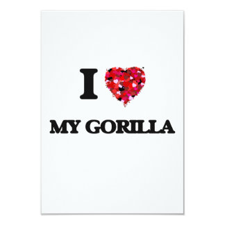 I Love My Gorilla 9 Cm X 13 Cm Invitation Card
