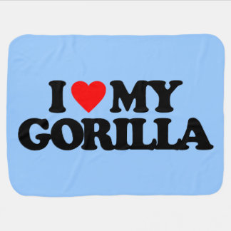 I LOVE MY GORILLA BUGGY BLANKETS