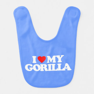I LOVE MY GORILLA BIB