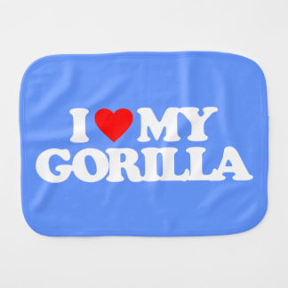 I LOVE MY GORILLA BURP CLOTH