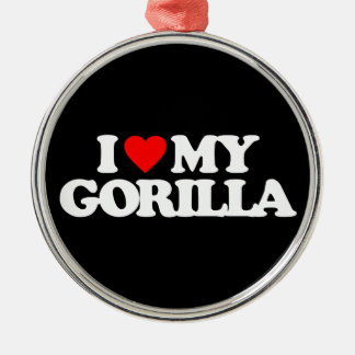 I LOVE MY GORILLA CHRISTMAS ORNAMENT