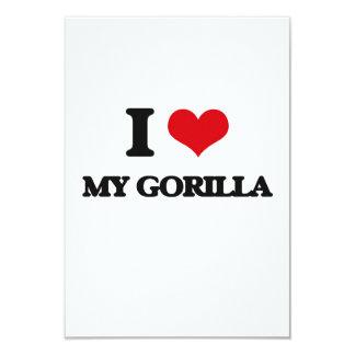 "I Love My Gorilla 3.5"" X 5"" Invitation Card"