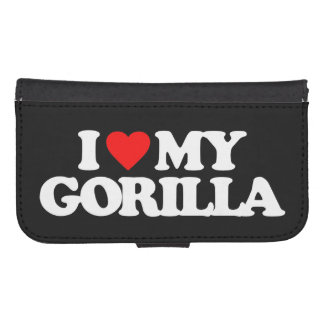 I LOVE MY GORILLA GALAXY S4 WALLETS