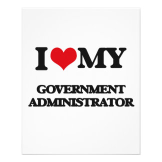 I love my Government Administrator Flyers