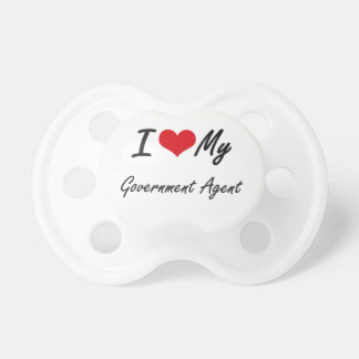 I love my Government Agent Baby Pacifiers