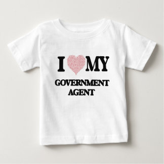 I love my Government Agent (Heart Made from Words) Tshirts
