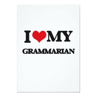 I love my Grammarian Custom Invites