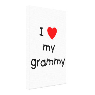 I Love My Grammy Stretched Canvas Print