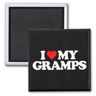 I LOVE MY GRAMPS MAGNET