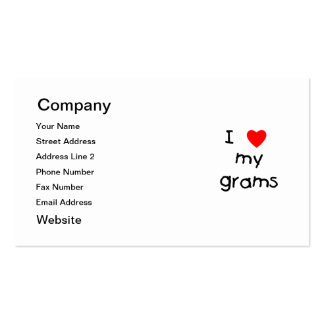 I love my grams business card templates