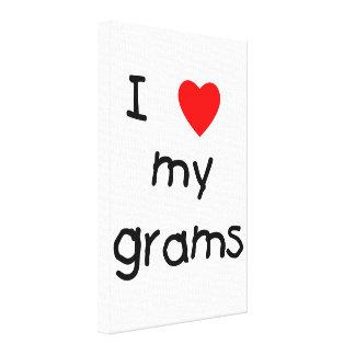 I love my grams canvas print