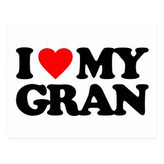 I LOVE MY GRAN POSTCARD