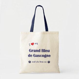 I Love My Grand Bleu de Gascogne (Female Dog) Canvas Bags
