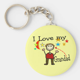 I Love My Grand Dad Key Ring