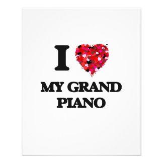 I Love My Grand Piano 11.5 Cm X 14 Cm Flyer