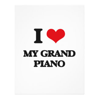 I Love My Grand Piano 21.5 Cm X 28 Cm Flyer