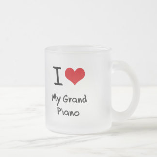 I Love My Grand Piano Frosted Glass Mug