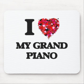 I Love My Grand Piano Mouse Pad