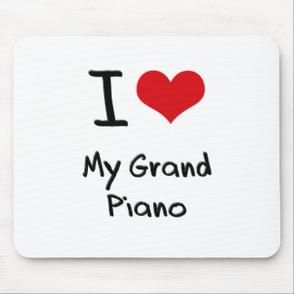 I Love My Grand Piano Mousepads