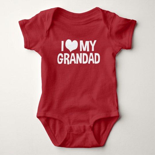 I Love My Grandad Baby Bodysuit