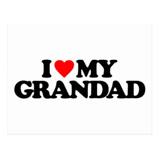 I LOVE MY GRANDAD POSTCARD