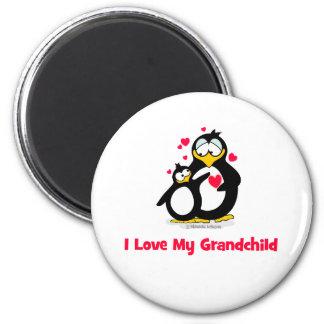 I love my grandchild 6 cm round magnet