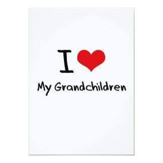 I Love My Grandchildren 13 Cm X 18 Cm Invitation Card