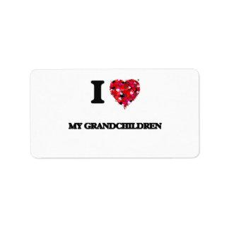 I Love My Grandchildren Address Label