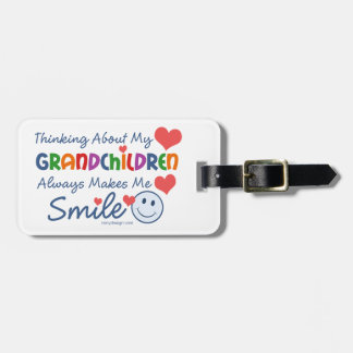 I Love My Grandchildren Name and Address Luggage Tag