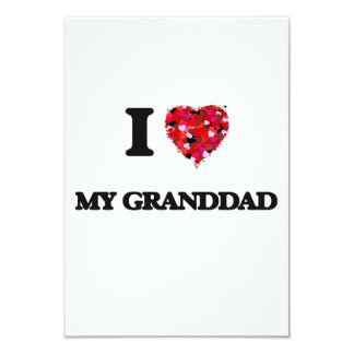 I Love My Granddad 9 Cm X 13 Cm Invitation Card