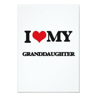 I love my Granddaughter 9 Cm X 13 Cm Invitation Card