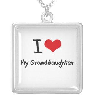 I Love My Granddaughter Jewelry