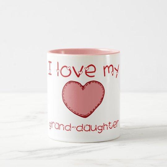 I love my granddaughter Two-Tone coffee mug