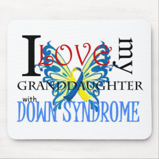 I Love My Granddaughter with Down Syndrome Mouse Pad