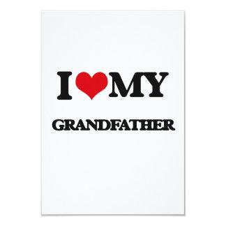I love my Grandfather 9 Cm X 13 Cm Invitation Card